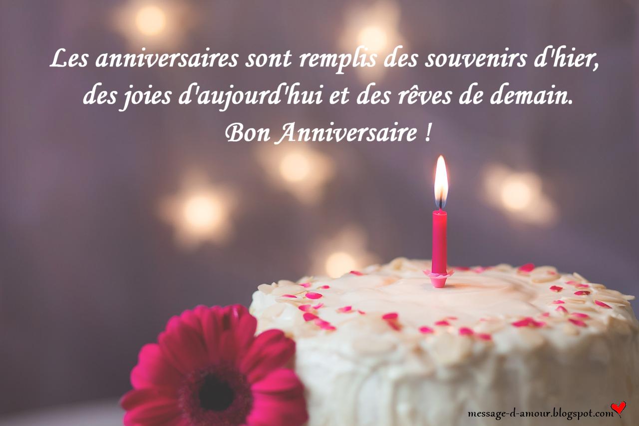 Petit message pour feter un anniversaire