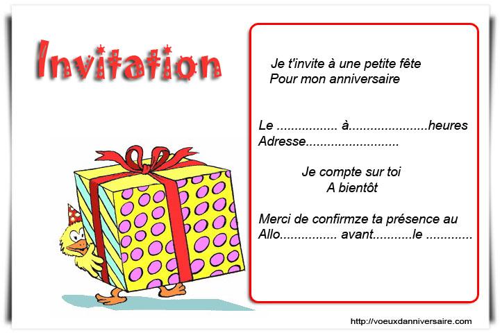 Carte D Invitation Anniversaire 40 Ans Gratuite à Imprimer