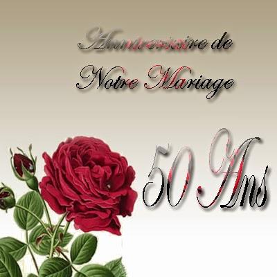 Carte invitation anniversaire 50 ans mariage gratuite imprimer
