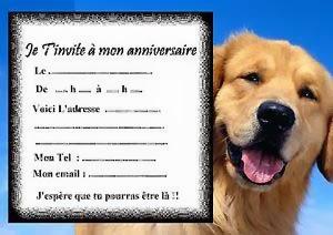 Carte anniversaire chien à imprimer