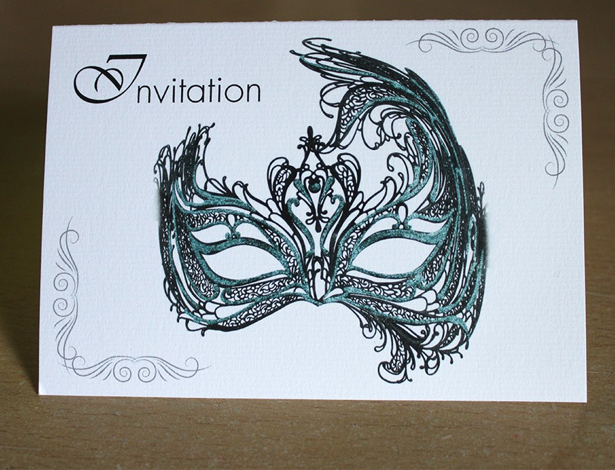 Carte d'invitation anniversaire déguisé