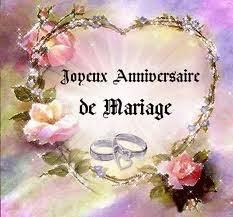 Carte joyeux anniversaire de mariage a imprimer
