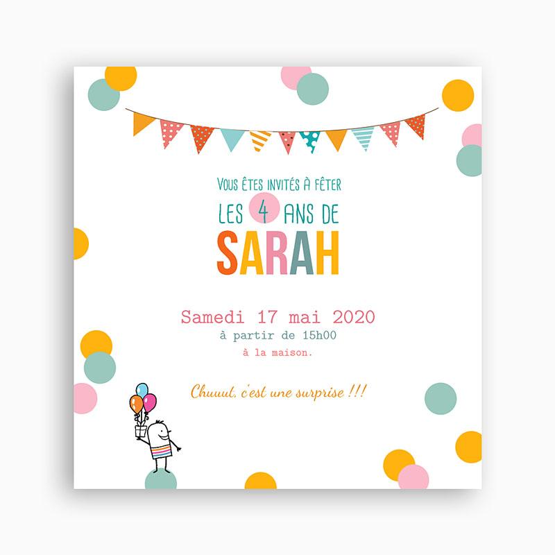 Texte invitation anniversaire 2 ans fille