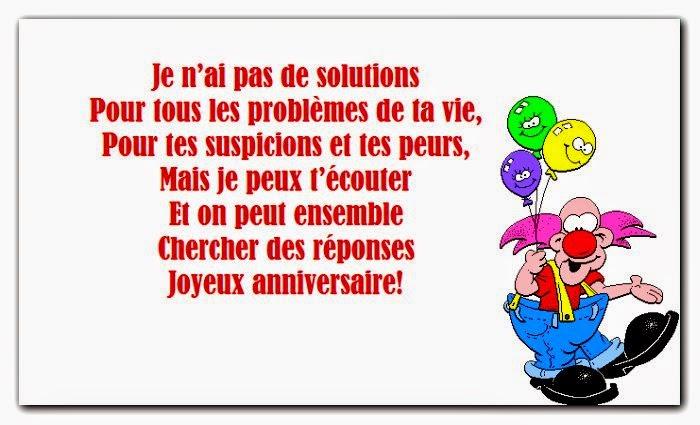 Bonne anniversaire texte humour
