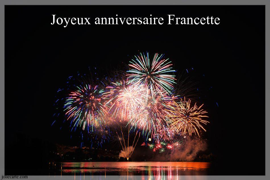 Carte Anniversaire Francette Elevagequalitetouraine