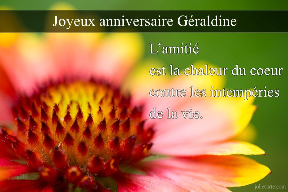 Carte anniversaire geraldine