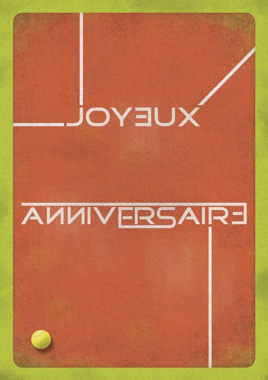 Carte anniversaire graphiste