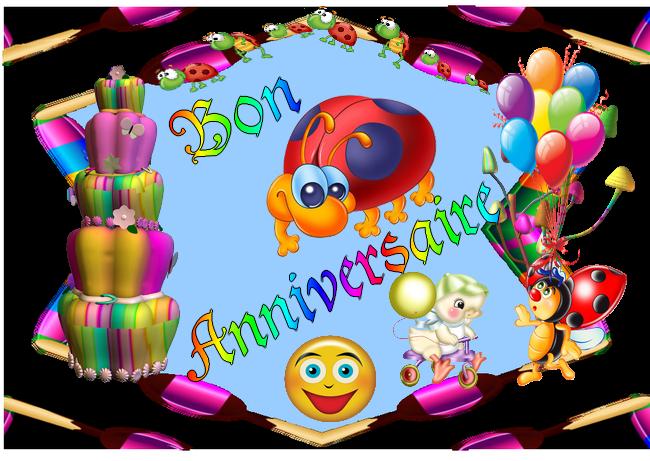 Carte anniversaire d'enfant