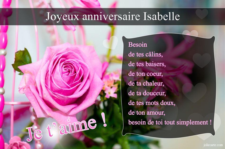 Carte anniversaire 50 ans isabelle