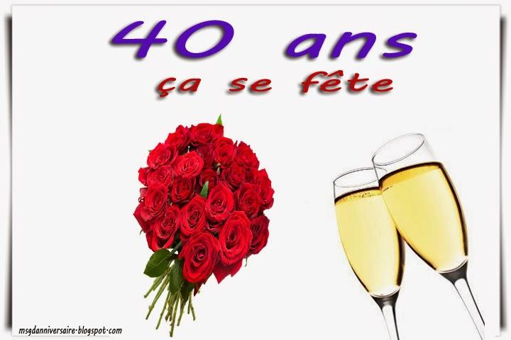 Carte anniversaire gratuite pour femme 40 ans