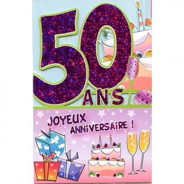 Carte joyeux anniversaire 50 ans homme