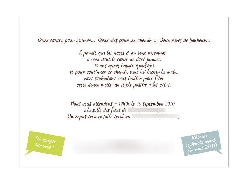 Message invitation anniversaire 50 ans