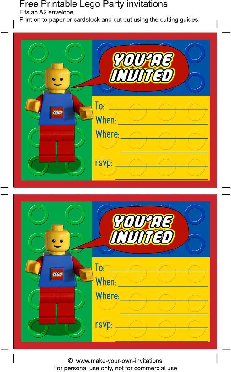 Carte D Invitation Anniversaire Lego Elevagequalitetouraine
