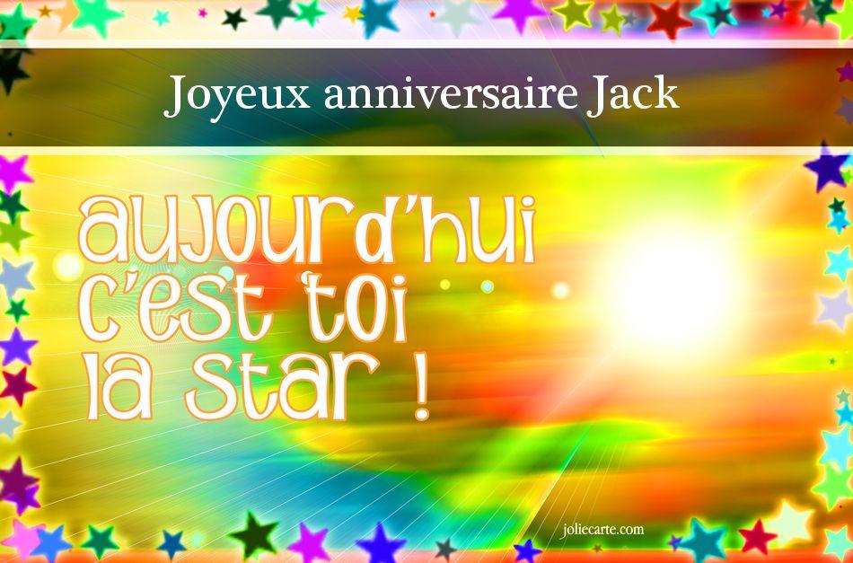 Carte anniversaire jack