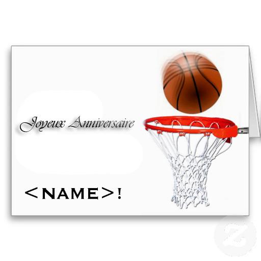 Carte invitation anniversaire basket