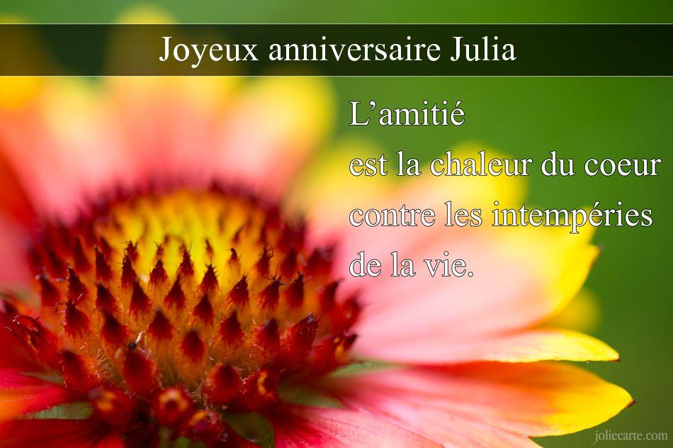 Carte anniversaire julia
