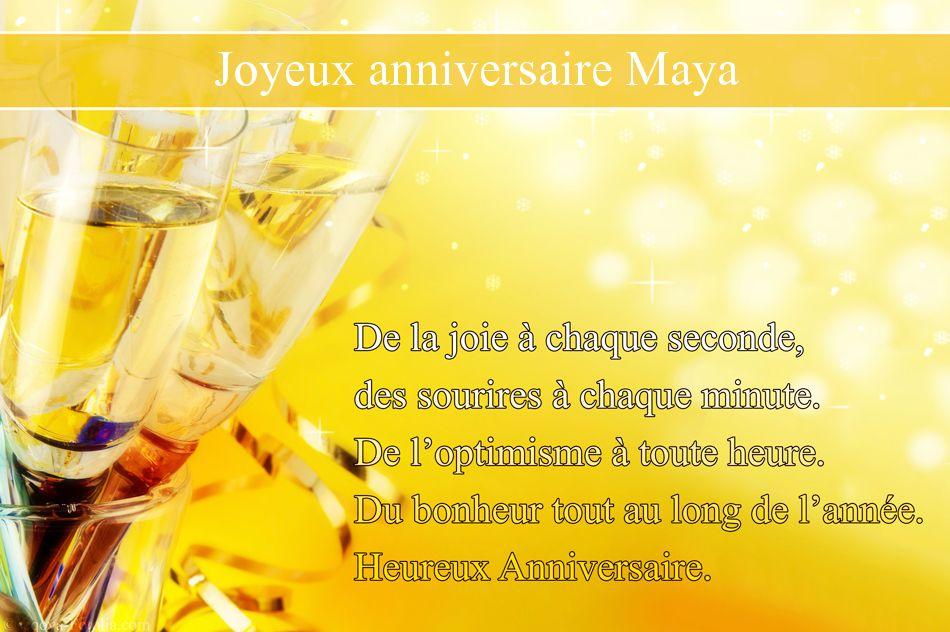 Chez maya carte anniversaire