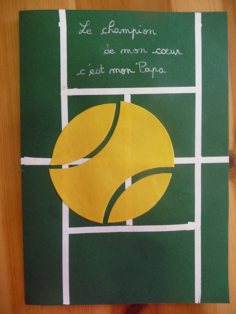 Carte joyeux anniversaire tennis