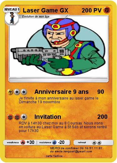 Carte anniversaire 9 ans pokemon