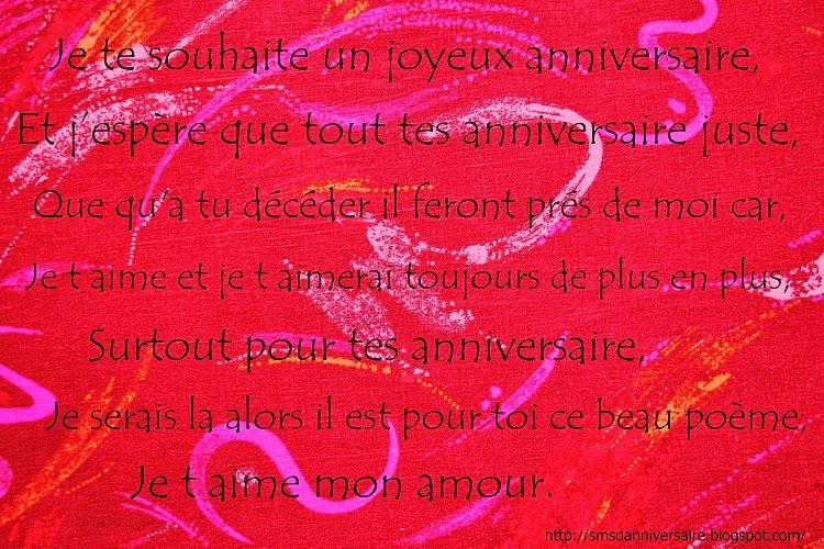 Message anniversaire pour mon chéri