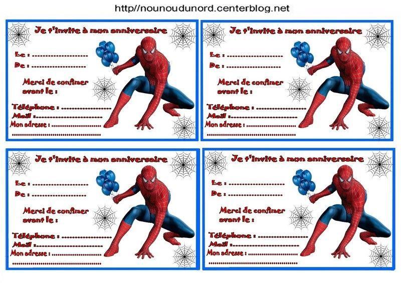Carte D Invitation Anniversaire Gratuite A Imprimer Spiderman Elevagequalitetouraine