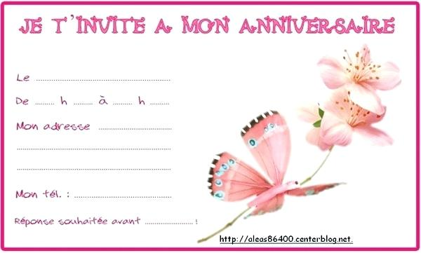 Carte Invitation Anniversaire Fille Papillon Elevagequalitetouraine