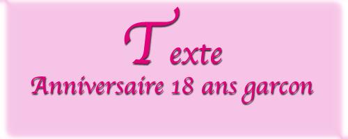 Texte felicitation anniversaire 18 ans