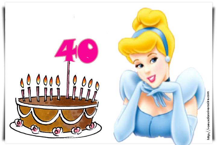 Carte anniversaire 40 ans femme humour