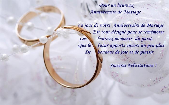 Message de bon anniversaire de mariage