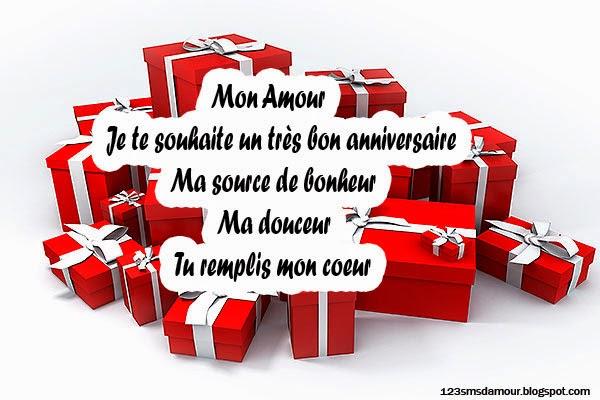 Message anniversaire pour mon amour
