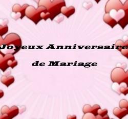 Anniversaire mariage message