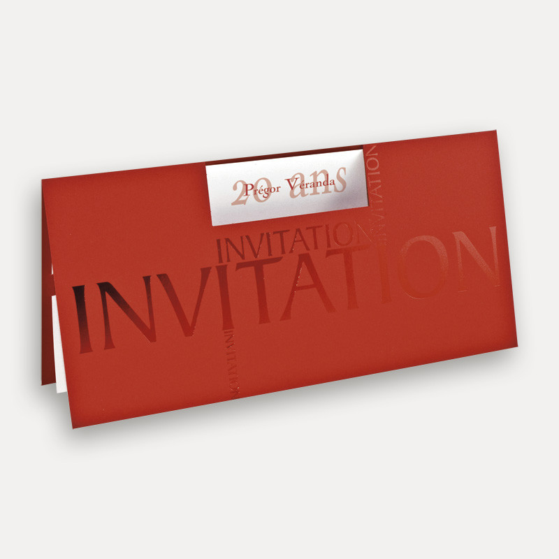 Carte invitation anniversaire rouge
