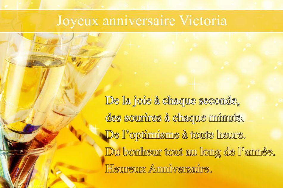 Carte bon anniversaire victoria