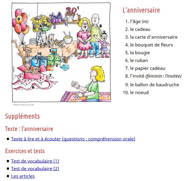 Joyeux anniversaire en français texte