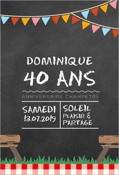 Carte D Invitation D Anniversaire 40 Ans Gratuite A Imprimer Elevagequalitetouraine