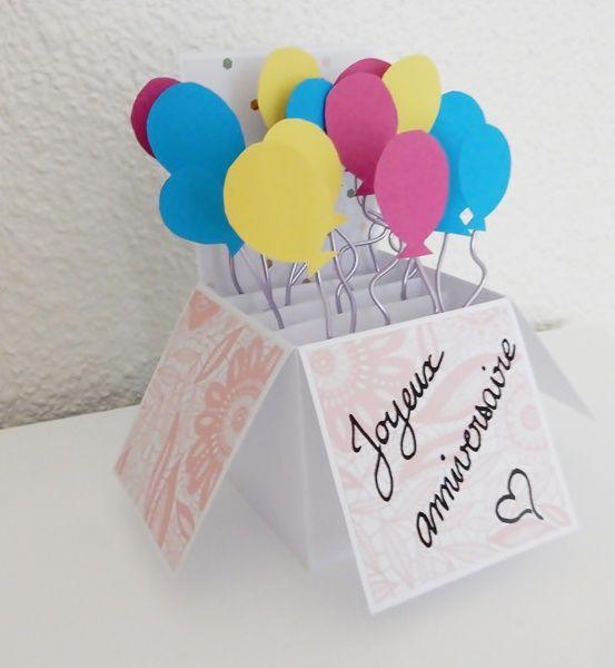 Diy carte anniversaire pop up