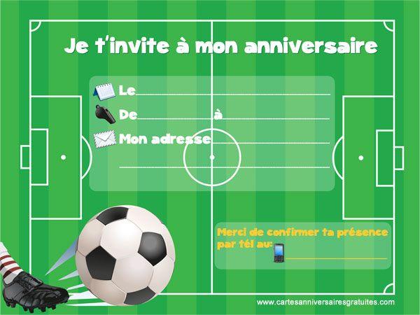 Carte d'invitation anniversaire barcelone