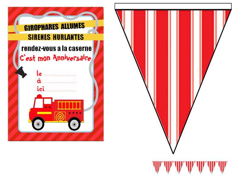 Carte anniversaire pompier adulte