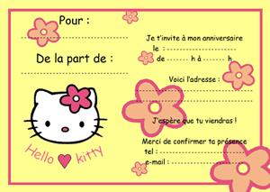 Carte d invitation anniversaire fille gratuite à imprimer