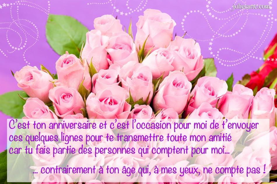 Jolie carte anniversaire gratuite pour femme