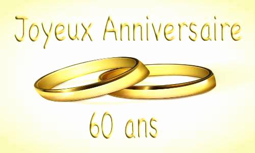 Carte invitation anniversaire de mariage 60 ans