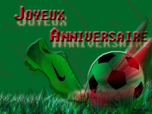 Carte D Anniversaire Football Elevagequalitetouraine