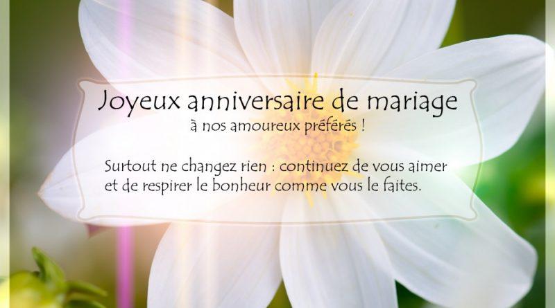 Texte heureux anniversaire de mariage
