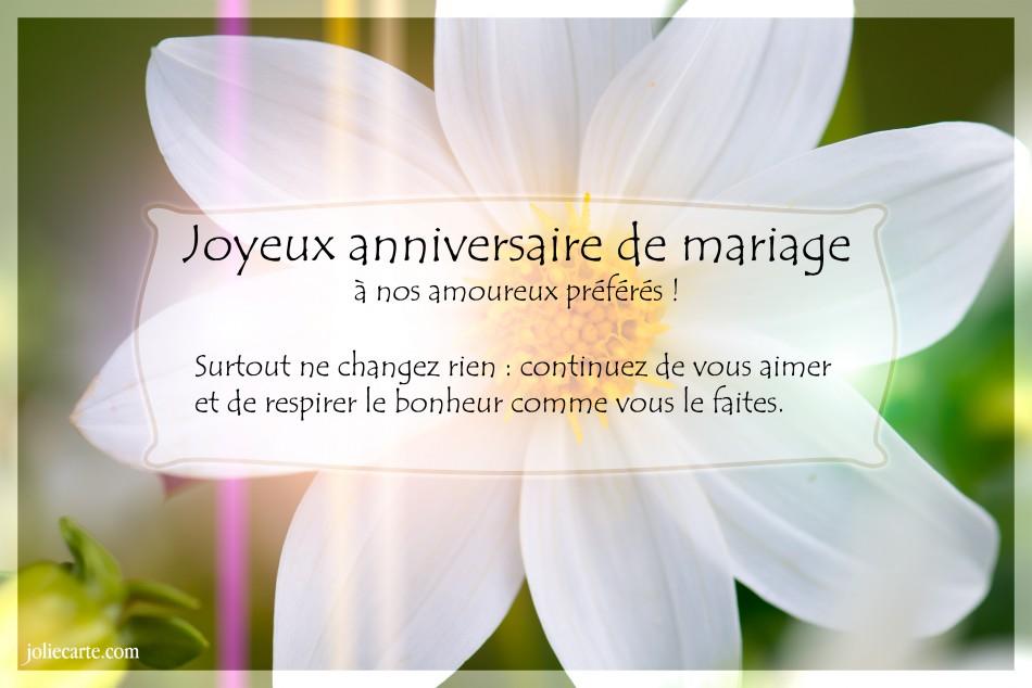 Message pour anniversaire de mariage 55 ans