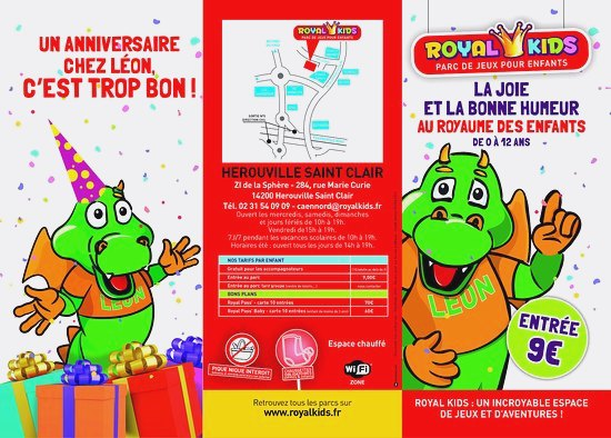 Carte anniversaire royal kids