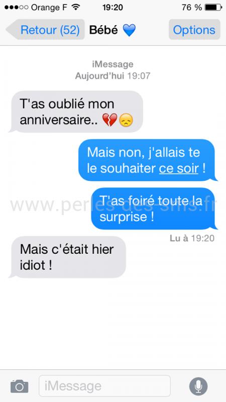 Texte sms anniversaire