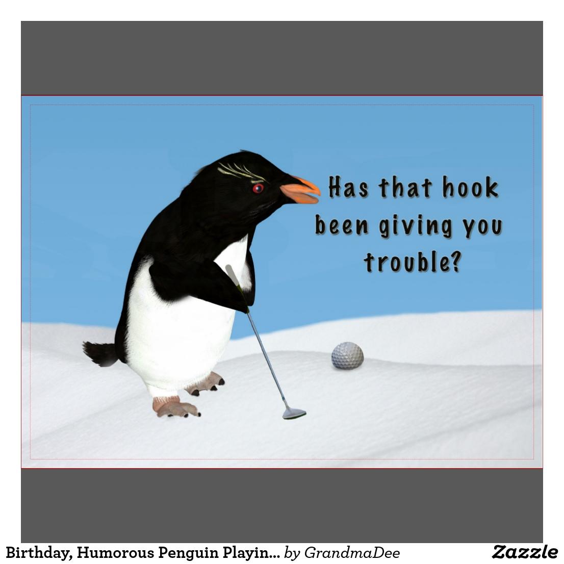 Carte anniversaire humoristique golf
