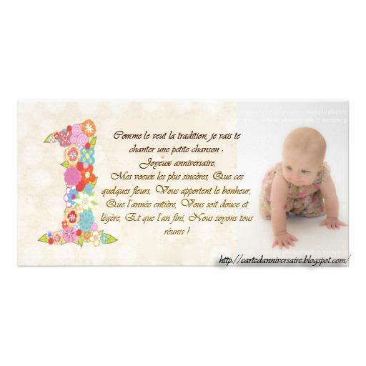 Texte premier anniversaire fille