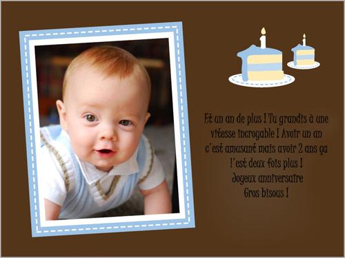 Texte invitation anniversaire enfant 1 an