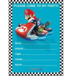 Carte d'invitation anniversaire gratuite à imprimer mario